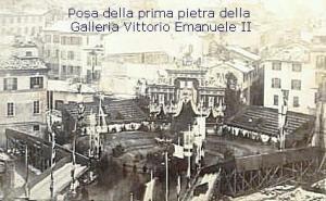 Posa della prima pietra della Galleria Vittorio Emanuele II