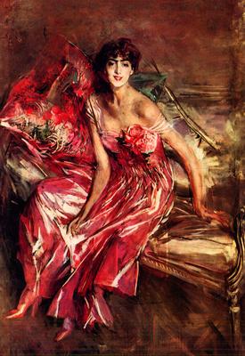 Giovanni Boldini - La signora in rosso