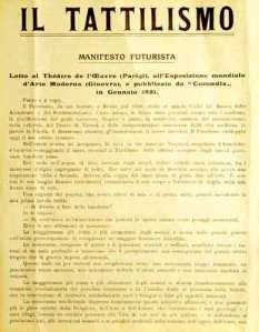 Manifesto del tattilismo