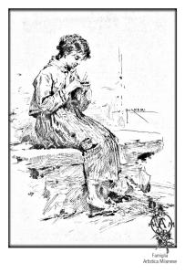 Vespasiano Bignami - Famiglia Artistica  Milanese Strenna Pio Istituto dei rachitici Milano - 1883