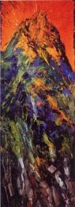Gasparini - La voce sul Sinai - olio su tela 2013 - cm 87 x 257