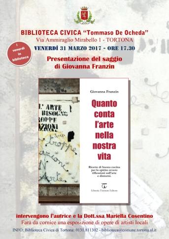 G. FRANZIN- locandina Biblioteca Tortona